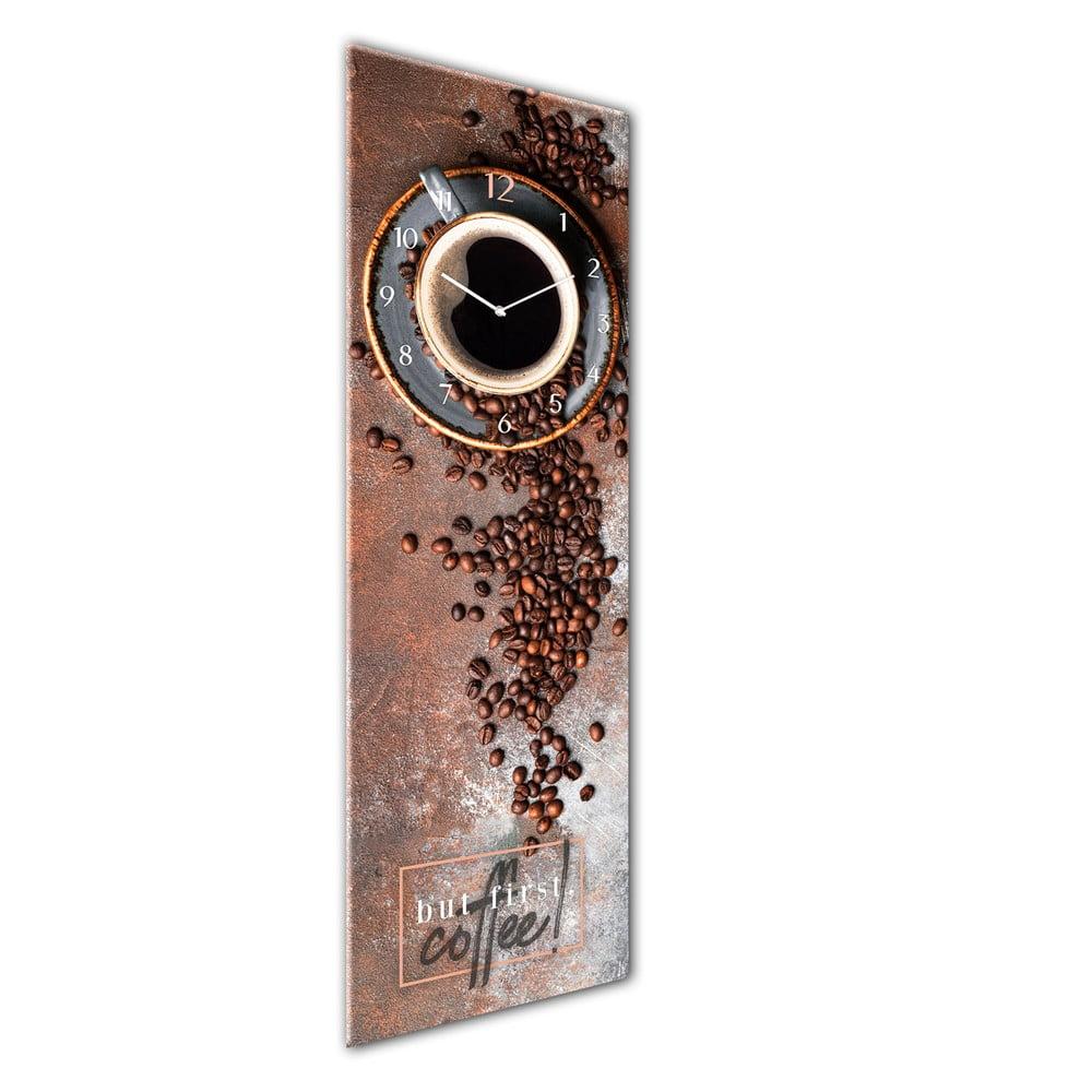 Produktové foto Skleněné nástěnné hodiny Styler First Coffee, 20 x 60 cm