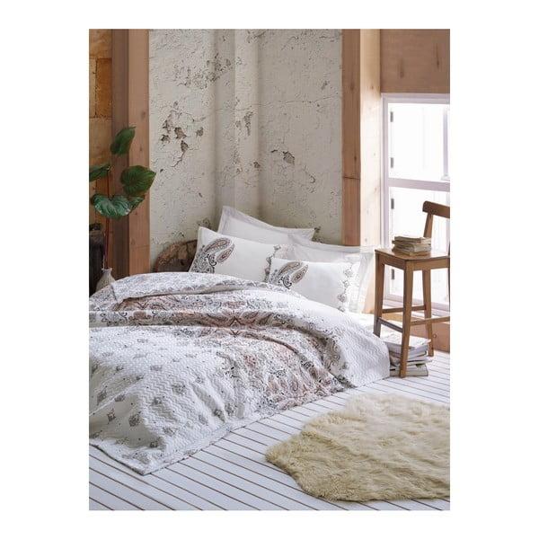 Harley Beige ágytakaró, lepedő és 2 párnahuzat szett ranforce pamutból, 220 x 230 cm