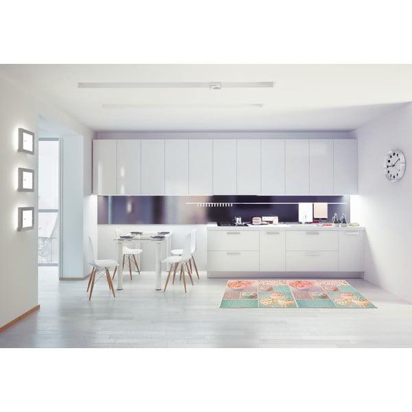 Vysoce odolný kuchyňský koberec Webtappeti Bluerose,60x190cm