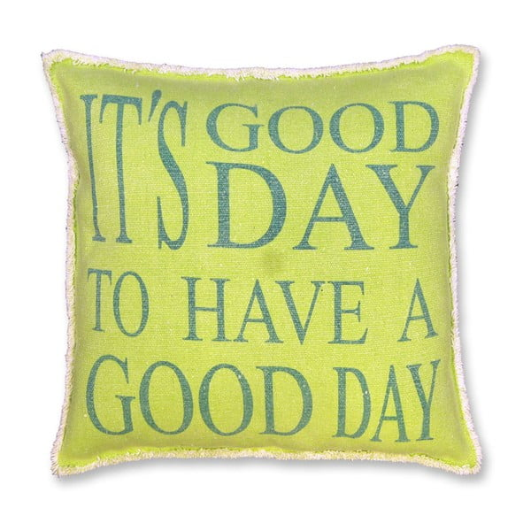 Polštář Good Day 45x45 cm, limetkový