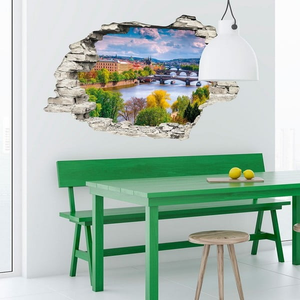 Autocolant perete 3D Ambiance Praga Jaro, 90 x 60 cm