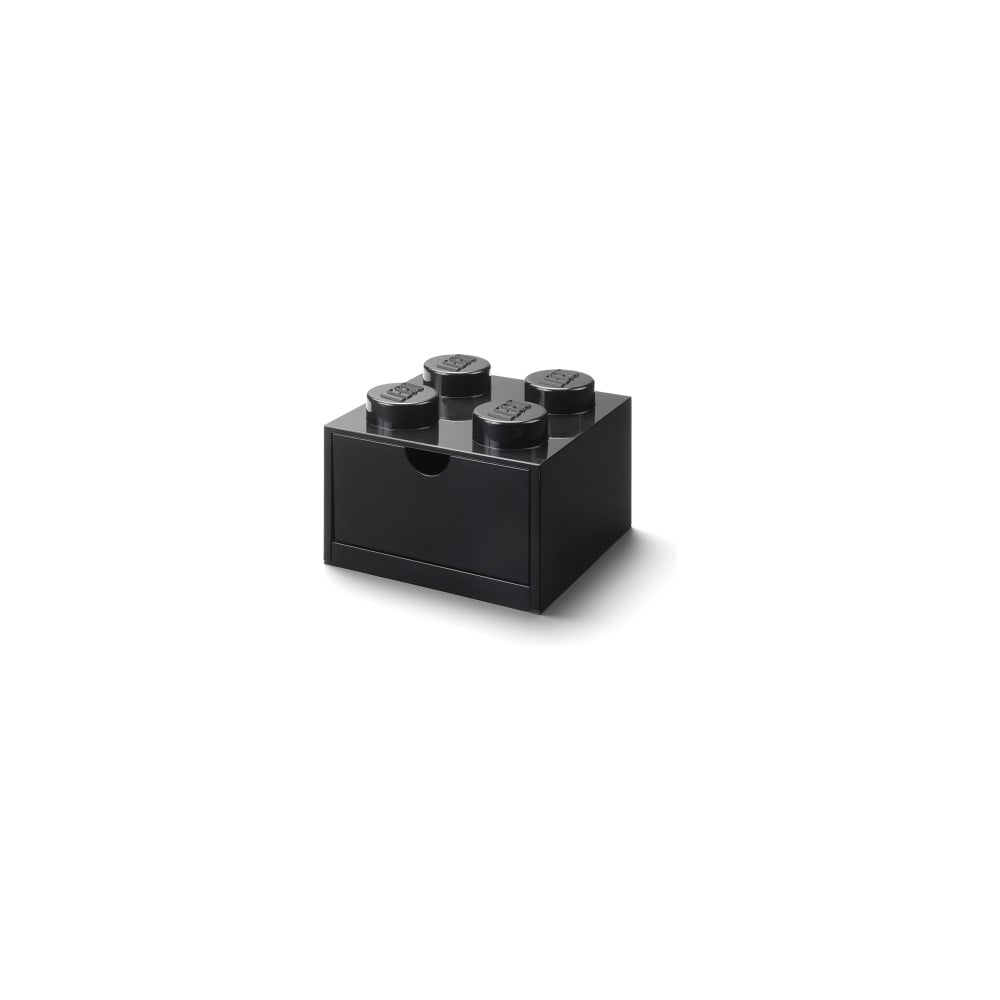 Černý stolní box sezásuvkou LEGO® Single