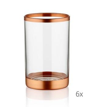 Set 6 pahare Mia Glam Bronze, 100 ml