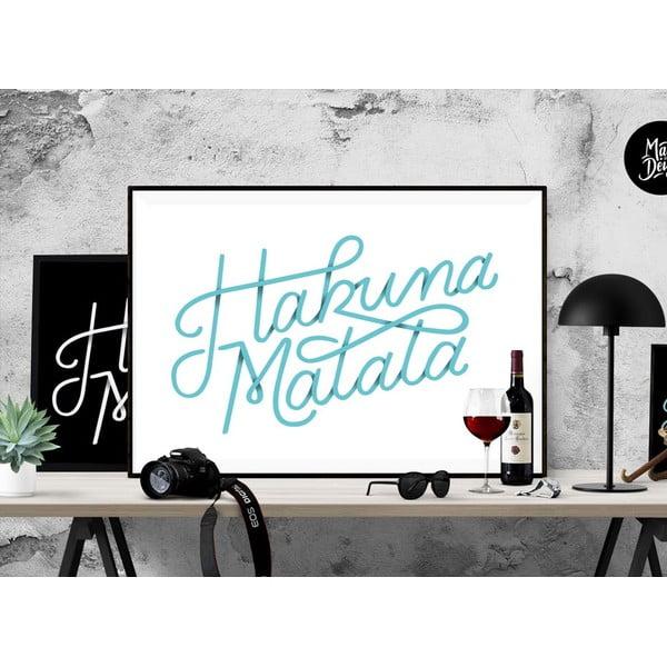 Plakát Hakuna Matata Blue, A3