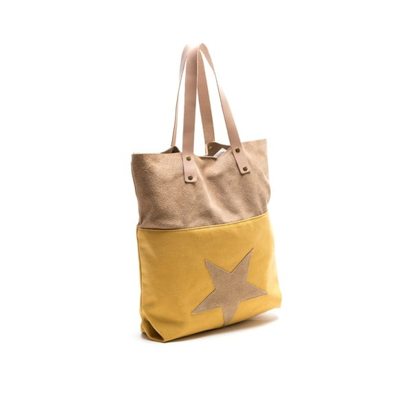 Kožená kabelka Isabella Rhea 8020 Giallo