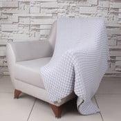 Šedá bavlněná deka Ciana, 170x130cm