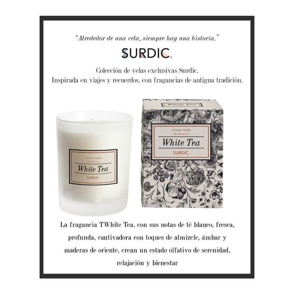 Aromatická svíčka s vůní bílého čaje Surdic White Tea, doba hoření 50 hodin
