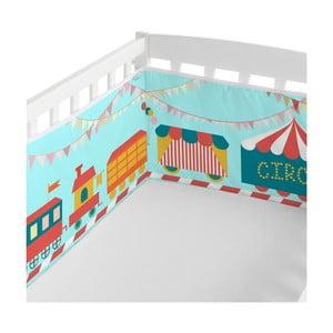 Textilní ohrádka na postýlku Little W Fun Circus, 210 x 40 cm