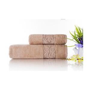 Sada 2ks ručníků Bamboo Glory Salmon, 50x90 cm a 70x140 cm