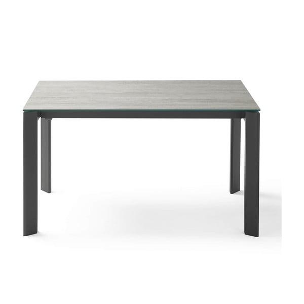 Šedo-černý rozkládací jídelní stůl sømcasa Lisa Blaze, délka 140/200 cm