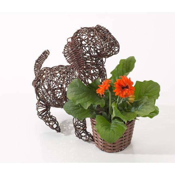 Dekorativní ratanový květináč Dog and Plant