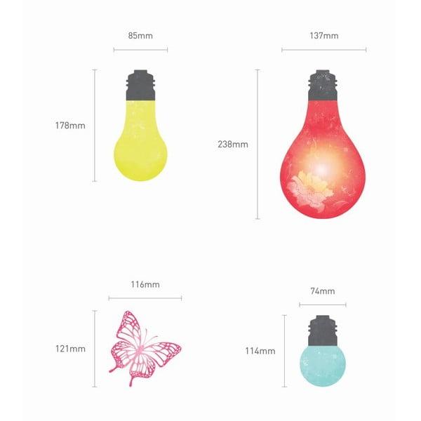 Samolepka Ambiance Light Bulbs And Butterflies