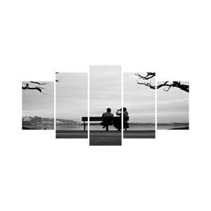 Vícedílný obraz Black&White no. 7, 100x50 cm