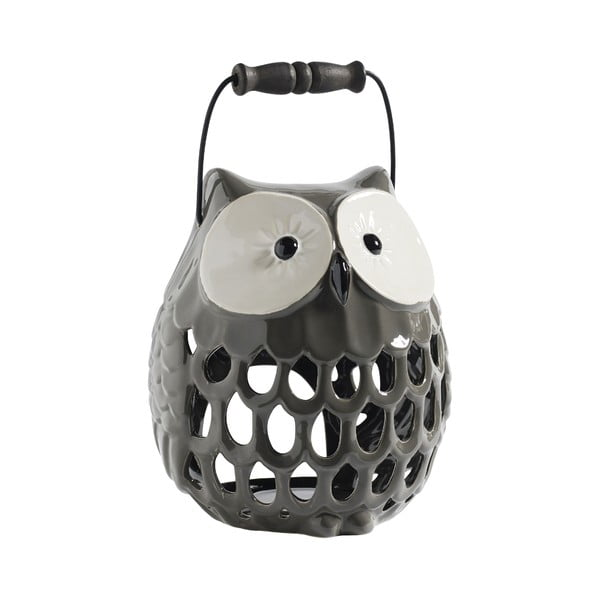 Keramický svícen Owl, šedý