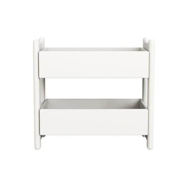 Biała szafka/organizer Flexa Shelfie Double, wys. 74 cm