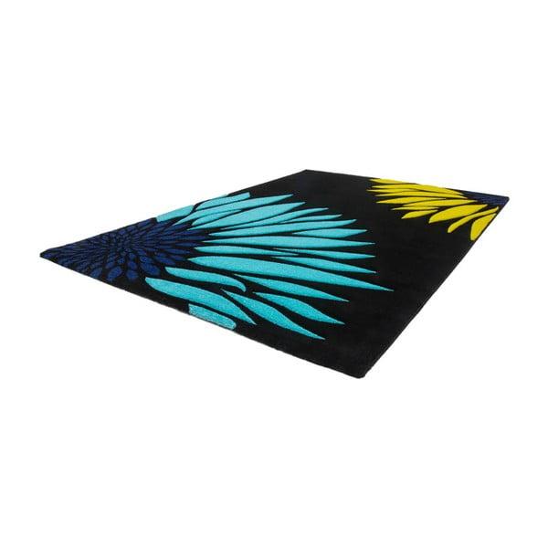 Koberec Lifestyle 174 black/aqua, 120x170 cm