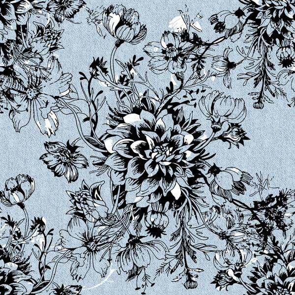 Povlečení Black Flower, 160x200 cm
