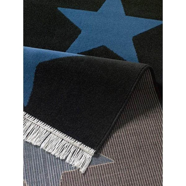 Koberec Fringe - tmavě modré hvězdy, 80x200 cm
