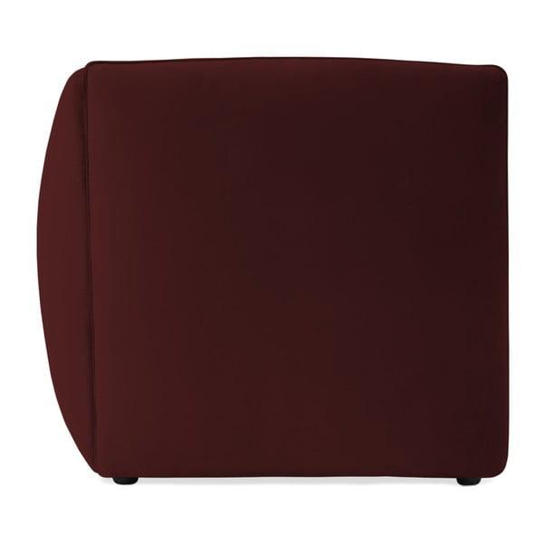 Vínově červený levý rohový modul pohovky Vivonita Velvet Cube