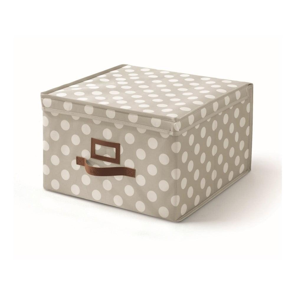 Béžový úložný box s víkem Cosatto Jolie, 40 x 40 cm