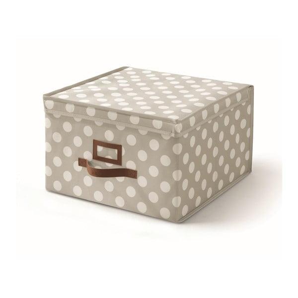Béžový úložný box s víkem Cosatto Jolie,40x40cm