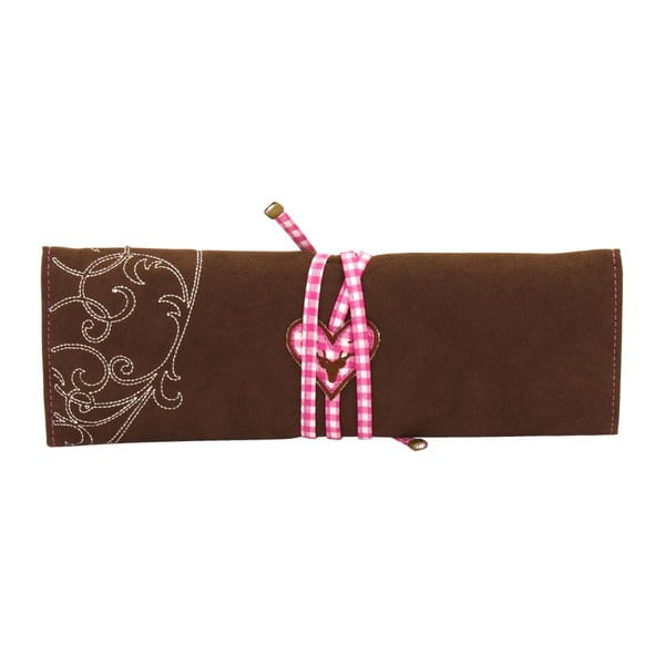 Šperkovnice Roll Bavaria Brown/Pink, 27x9,5x3 cm