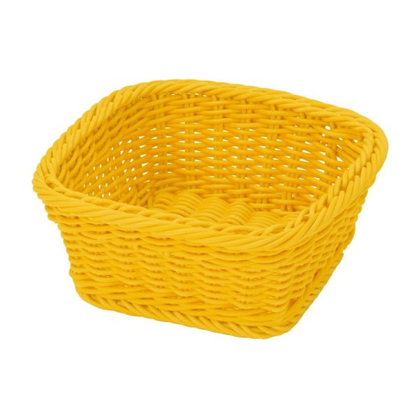 Košík Korb Quadra Yellow, 19x19x7,5 cm
