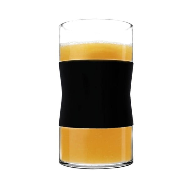 Sklenice z borosilikátového skla, černé, 240 ml, 2 ks