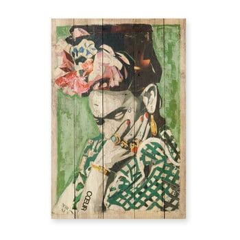Tablou din lemn de pin Madre Selva Frida Coeur, 40 x 60 cm poza