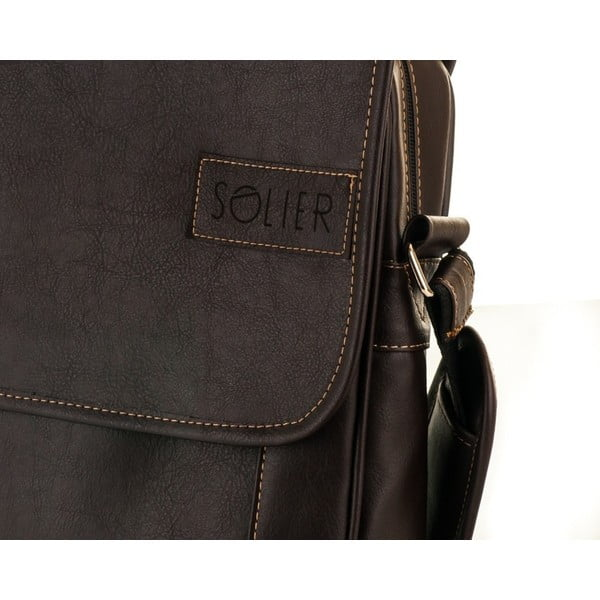 Pánská taška Solier S15, hnědá