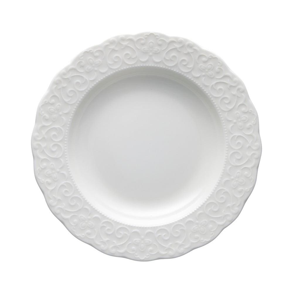 Bílý porcelánový talíř Brandani Gran Gala, ⌀22cm Brandani