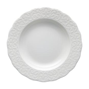 Farfurie din porțelan Brandani Gran Gala, ⌀ 22 cm, alb
