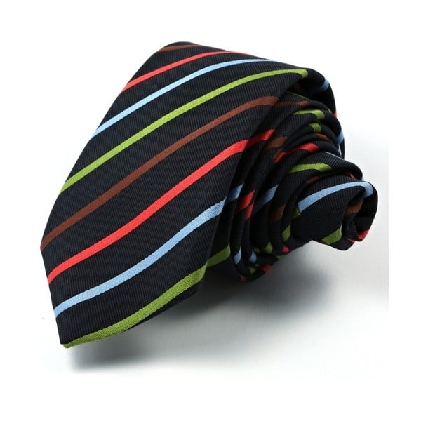 Černá kravata s proužky Funky