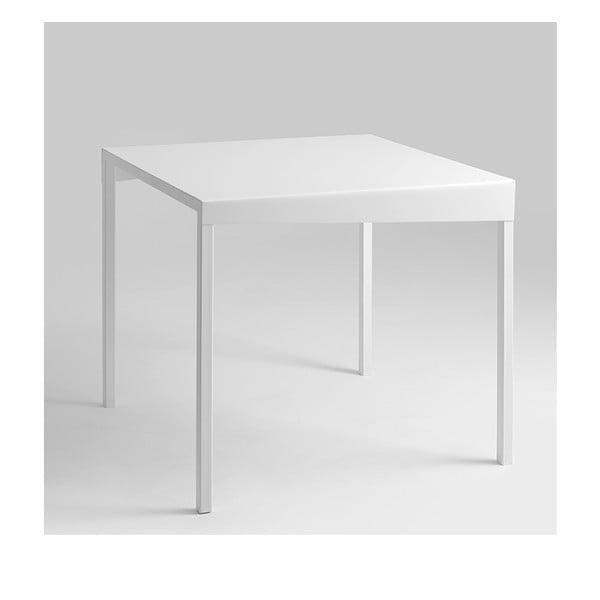 Obroos fehér tárolóasztal, 50 x 50 cm - Custom Form