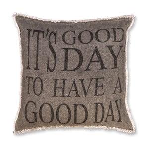 Polštář Good Day 45x45 cm, tmavě šedý