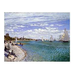 Tablou Claude Monet - Regatta at Sainte-Adresse, 60x45 cm