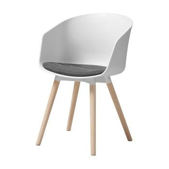 Scaun cu picioare din lemn de stejar Interstil Moon, alb de la Interstil