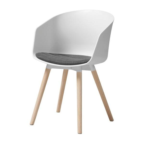 Bílá jídelní židle s dubovými nohami Interstil Moon