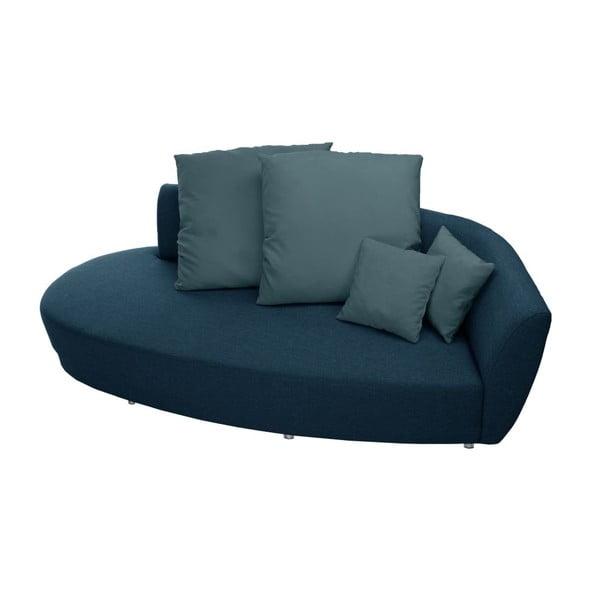Canapea cu trei locuri Florenzzi Viotti Turquoise, spătar pe partea dreaptă