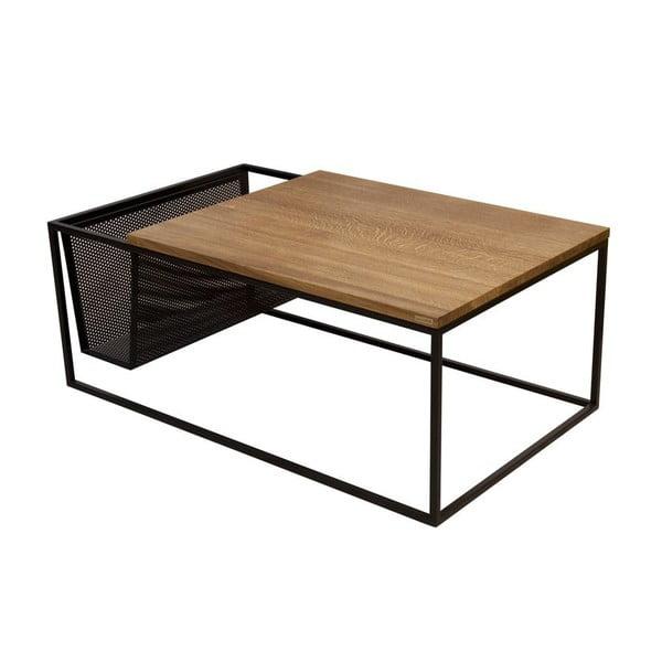 Odkládací stolek se stojanem na noviny Performa Black