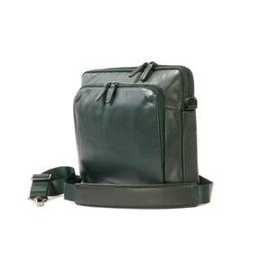 Zelená taška na rameno z italské kůže Tucano Office