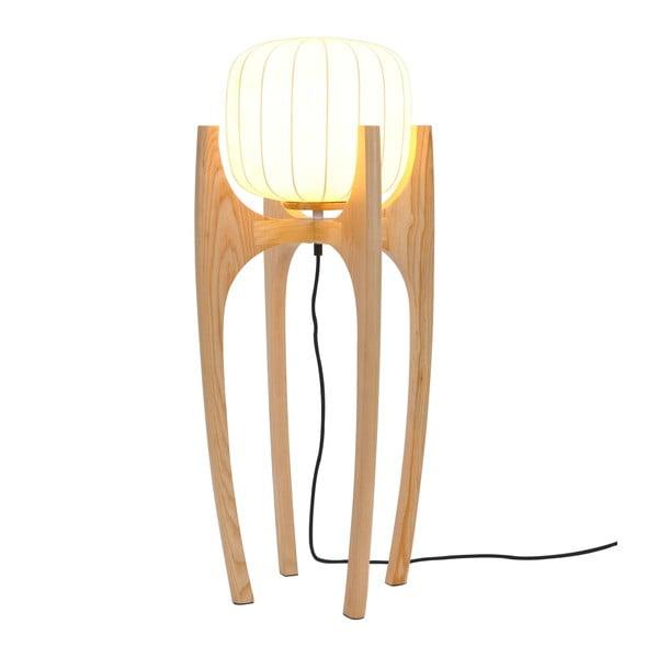 Bílá volně stojící lampa s hedvábným stínítkem Garageeight Tom