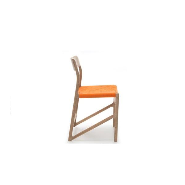 Židle Fawn Natural Gazzda, oranžová
