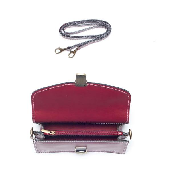 Červená kožená kabelka Mangotti Lotus