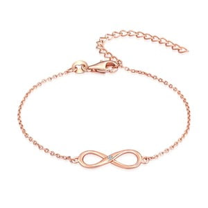 Stříbrný pozlacený náramek s pravým diamantem Tess Diamonds Olivia
