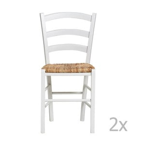 Set 2 scaune Marckeric Paloma, alb