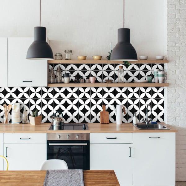 Sada 9 nástěnných samolepek Ambiance Wall Decal Tiles Enzo, 10 x 10 cm