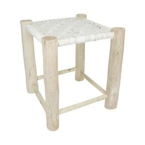 Bílá dřevěná stolička HF Living, 40x40cm