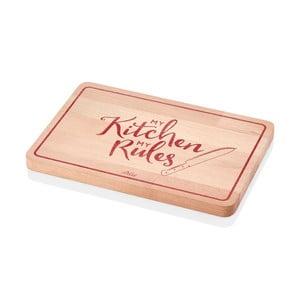 Krájecí prkénko z bukového dřeva The Mia Red Rules, 29 x 20 cm