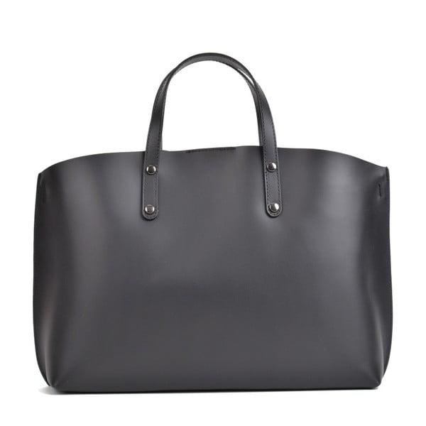 Geantă din piele Mangotti Bags Lulia, negru